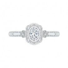 Shah Luxury 14k White Gold Diamond Engagement Ring
