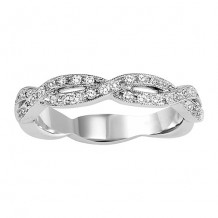14k White Gold 1/4ct Diamond Wedding Band