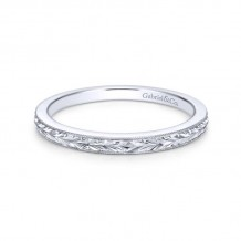 Gabriel & Co. 14k White Gold Victorian Wedding Band