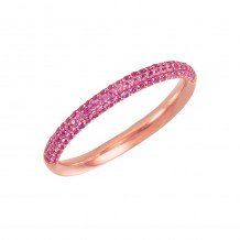 14k Rose Gold Pink Sapphire Stackable Ring