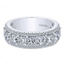 Gabriel & Co 14k White Gold 2.65ct Diamond Wedding Band