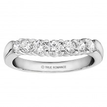 True Romance Platinum 0.50ct Diamond Vintage Style Wedding Band