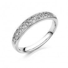 14K White Gold 0.26ct Diamond Women's Wedding Band