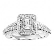 14k White Gold 3/4ct Diamond Engagement Ring with 3/4ct Center Stone
