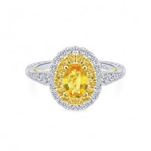 Gabriel & Co 14k Two-Tone Gold Double Halo Diamond Engagement Ring