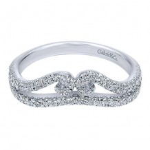 Gabriel & Co 14k White Gold 0.44ct Diamond Wedding Band