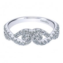 Gabriel & Co 14k White Gold 0.51ct Diamond Wedding Band