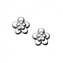 Sterling Silver Diamond Flower earrings