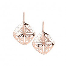 Carla Cushion Lace Drop Rose Sterling Silver Earrings