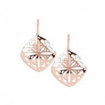 Carla Cushion Lace Drop Rose Sterling Silver Earrings