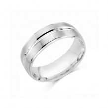 Camelot Sterling Silver Engraved Fortune Wedding Band