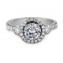 18k White Gold Elegant Halo Diamond Engagement Ring
