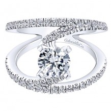 14k White Gold Gabriel & Co. 0.63ct Diamond Engagement Ring