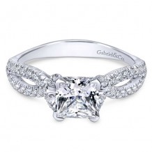 14k White Gold Gabriel & Co. 0.32ct Diamond Engagement Ring