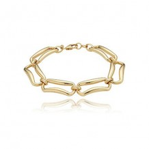 Carla 14k Yellow Gold Rectangle Link Bracelet