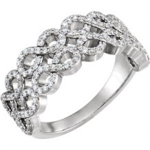 Stuller 14k White Gold Diamond Infinity-Style Ring
