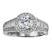 14k White Gold 1 5/8ct Diamond Engagement Ring