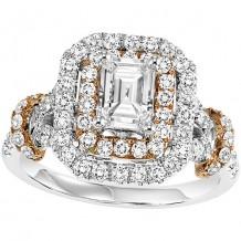 14k White Gold 3/4ct Diamond  Semi Mount Engagement Ring