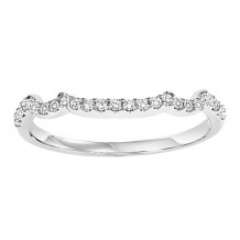 14k White Gold 1/6ct Diamond Wedding Band