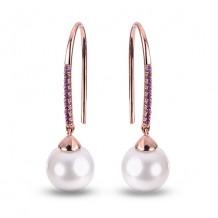 Imperial Pearl 14k Rose Gold Freshwater Pearl Earring