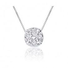 14K White Gold 0.23ct Diamond Pendant