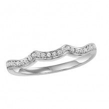 14k White Gold 1/8ct Diamond Wedding Band