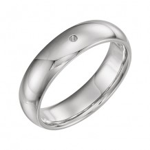 Stuller 14k White Gold 0.10ct Diamond Wedding Band