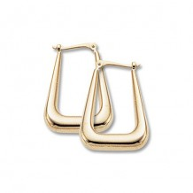 Carla 14K Yellow Gold Long U Shaped Hoop earrings
