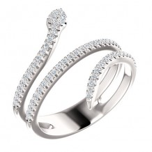 14k White Gold Stuller Diamond Snake Fashion Ring