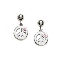 Sterling Silver Sapphire Peace earrings