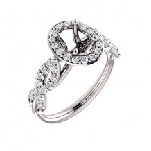 Stuller 14k White Gold 3/8ct Diamond Semi-Mount Engagement Ring