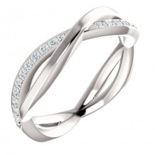 14k White Gold Stuller Diamond Infinity Ring
