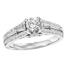 14k White Gold 1/2ct Diamond  Semi Mount Engagement Ring