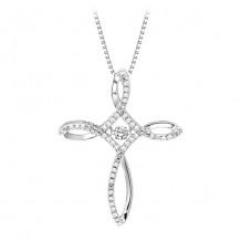 Sterling Silver Diamond Rythm Of Love Necklace