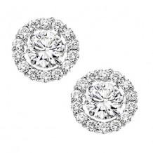 14K White Gold 1/2ct Diamond Rhythm Of Love Earrings